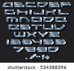 chrome metallic font.... | Shutterstock .eps vector #534388396