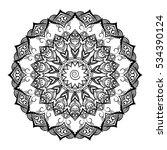 round ornamental mandala for... | Shutterstock .eps vector #534390124
