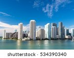 view of miami downtown skyline...   Shutterstock . vector #534390340