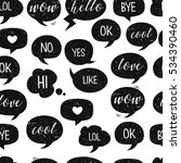 speech bubbles. grunge seamless ... | Shutterstock .eps vector #534390460