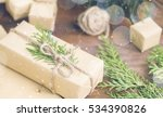 christmas gift in organic craft ... | Shutterstock . vector #534390826