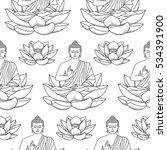 seamless pattern of sitting...   Shutterstock .eps vector #534391900