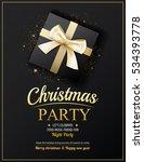 invitation merry christmas... | Shutterstock .eps vector #534393778