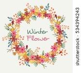 winter flower vector | Shutterstock .eps vector #534394243