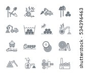 set of thin line icons logging... | Shutterstock .eps vector #534396463