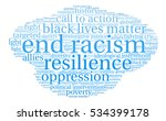 end racism word cloud on a...