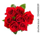 Stock photo red roses bouquet isolated on white background 534400039