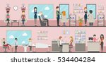 beauty salon set. hairdressing... | Shutterstock .eps vector #534404284