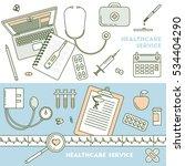 health services  online doctor... | Shutterstock .eps vector #534404290