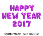 word happy new year in english... | Shutterstock . vector #534409810