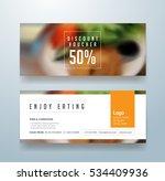 gift voucher discount template... | Shutterstock .eps vector #534409936