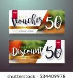 gift voucher discount template... | Shutterstock .eps vector #534409978