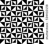 geometric black and white... | Shutterstock .eps vector #534410158