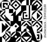geometric black and white... | Shutterstock .eps vector #534410188