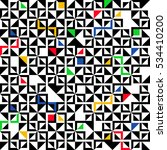 geometric pattern with colorful ... | Shutterstock .eps vector #534410200