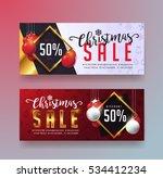 christmas sale banner template... | Shutterstock .eps vector #534412234