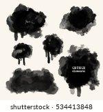 vector set of black brush... | Shutterstock .eps vector #534413848