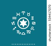 circle with signs of zodiac...   Shutterstock .eps vector #534417070
