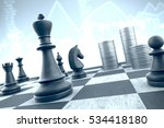 3d illustration  chess strategy ... | Shutterstock . vector #534418180