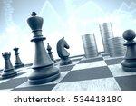 3d illustration  chess strategy ... | Shutterstock . vector #534418180