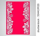 die cut card. laser cut vector... | Shutterstock .eps vector #534419920