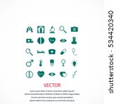 medical icons  flat design best ... | Shutterstock .eps vector #534420340