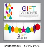 gift voucher template for... | Shutterstock .eps vector #534421978