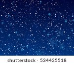 falling christmas shining... | Shutterstock .eps vector #534425518