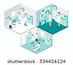 isometric flat 3d concept... | Shutterstock .eps vector #534426124