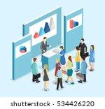 isometric flat 3d concept... | Shutterstock .eps vector #534426220