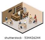 isometric 3d flat interior of... | Shutterstock .eps vector #534426244