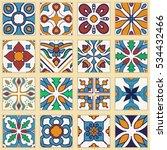 vector set of portuguese tiles. ... | Shutterstock .eps vector #534432466