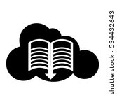 cloud and book with dowload...   Shutterstock .eps vector #534432643