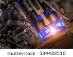 metallic engine background of... | Shutterstock . vector #534433510