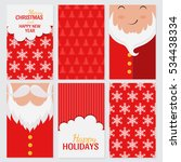 vector merry christmas and... | Shutterstock .eps vector #534438334