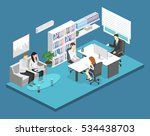 isometric interior of director... | Shutterstock .eps vector #534438703