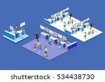 isometric flat 3d concept...   Shutterstock .eps vector #534438730