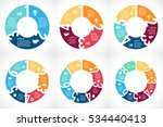 vector circle arrows numbers 1  ... | Shutterstock .eps vector #534440413