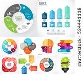 vector infographic set.... | Shutterstock .eps vector #534441118