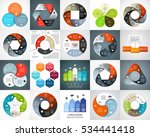 vector circle arrows... | Shutterstock .eps vector #534441418