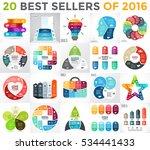 20 infographics best sellers of ... | Shutterstock .eps vector #534441433