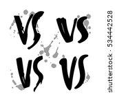 grunge hand drawn versus logo... | Shutterstock .eps vector #534442528