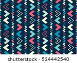 ethnical geometric seamless... | Shutterstock .eps vector #534442540