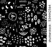 black and white whimsical... | Shutterstock .eps vector #534442564