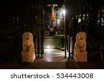 beautiful entrance night | Shutterstock . vector #534443008