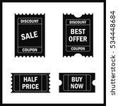 sale tickets vector collection. ... | Shutterstock .eps vector #534448684
