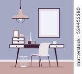retro interior with writing... | Shutterstock .eps vector #534452380