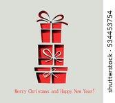 christmas gift or present... | Shutterstock .eps vector #534453754
