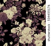 seamless floral pattern with... | Shutterstock . vector #534455176
