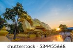 golden buddha in singburi... | Shutterstock . vector #534455668